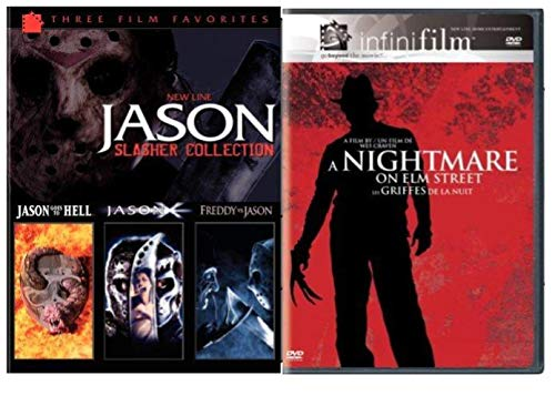 Jason Slasher Collection 4-Movie Set - Jason Goes To Hell/ Jason X/ Freddy vs Jason & A Nightmare on Elm Street