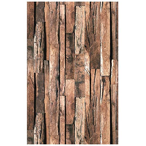 Blooming Wall: Vintage Faux Wood Grain Wood Panel Textured Wallpaper Roll for Livingroom Bedroom Background, Looks Real Up! 20.8 In32.8 Ft=57 Sq ft/Roll