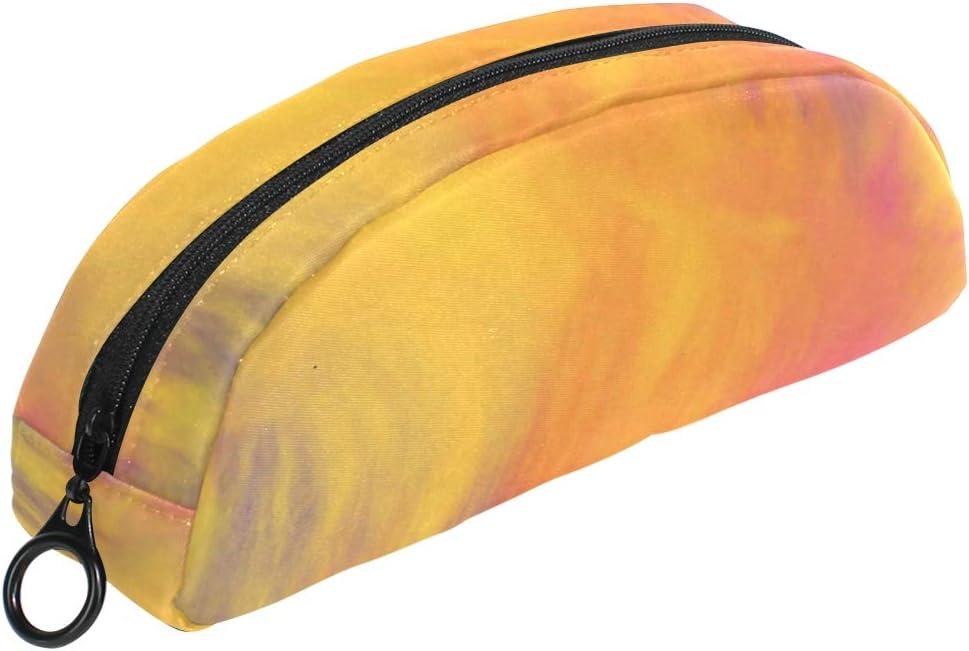 Colorido estuche de acuarela naranja con cremallera, bolsa de maquillaje pequeña para niños y adolescentes: Amazon.es: Oficina y papelería
