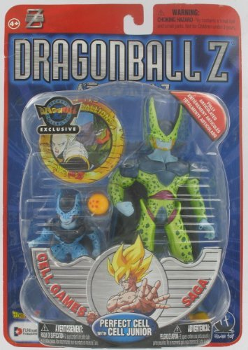 (Dragonball Z Perfect Cell with Cell Jr. Cell Games Saga (Metallic Paint) Beckett Collector Exclusive)