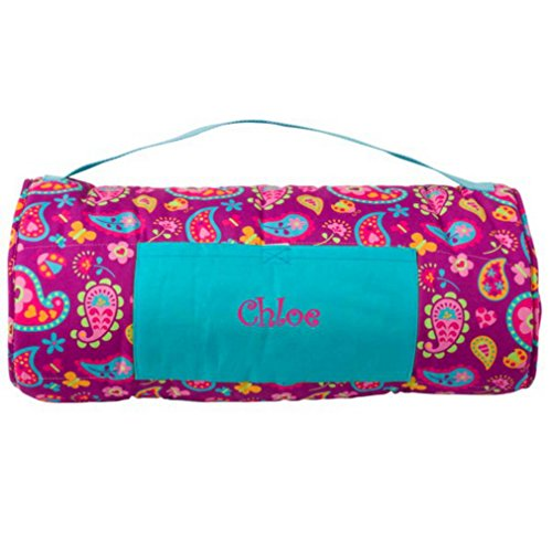 DIBSIES Personalization Station Personalized Nap Mat (Paisley Hearts & Flowers)