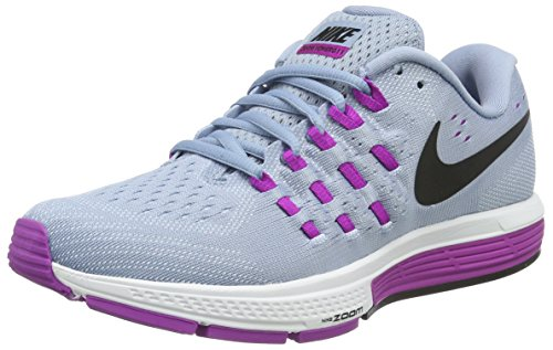 - Nike Womens Wmns Air Zoom Vomero 11, BLUE GREY/BLACK-HYPER VIOLET-BLUE TINT, 9 US