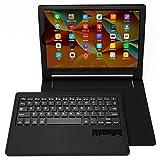 Lenovo Yoga Tab 3 Plus Folio Case, Lenovo Yoga Tab 3 Pro Keyboard Case, Leather Protective Smart Case with Removable Bluetooth Keyboard for 10.1'' Lenovo Yoga Tab 3 Plus (X703F), Yoga Tab 3 Pro (X90F)