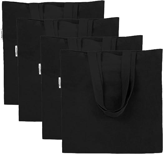 Amazon Com Pack Of 4 Shopping Bag Crafting Decorating Black Bag