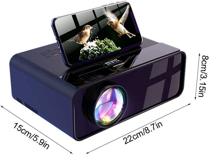 OTENGD Proyector de película portátil 1080P Compatible, Pantalla ...