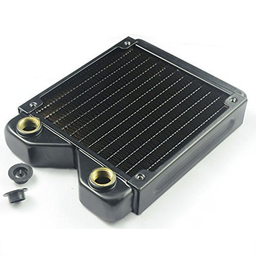 - BXQINLENX 120 Pure Copper 12 Pipe Heat Exchanger Radiator for PC CPU CO2 Laser Water Cool System Computer