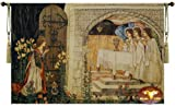 Achievement of the Grail Medieval Wall Hanging Tapestry Home Decor Size 55''x39'' Holy Grail