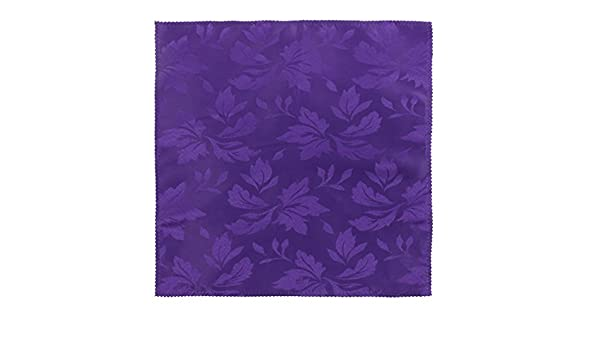Amazon.com: Padrão DealMux Polyester Flower Hotel Cafe Table Decor pano guardanapo 50 x 50cm roxo: Kitchen & Dining