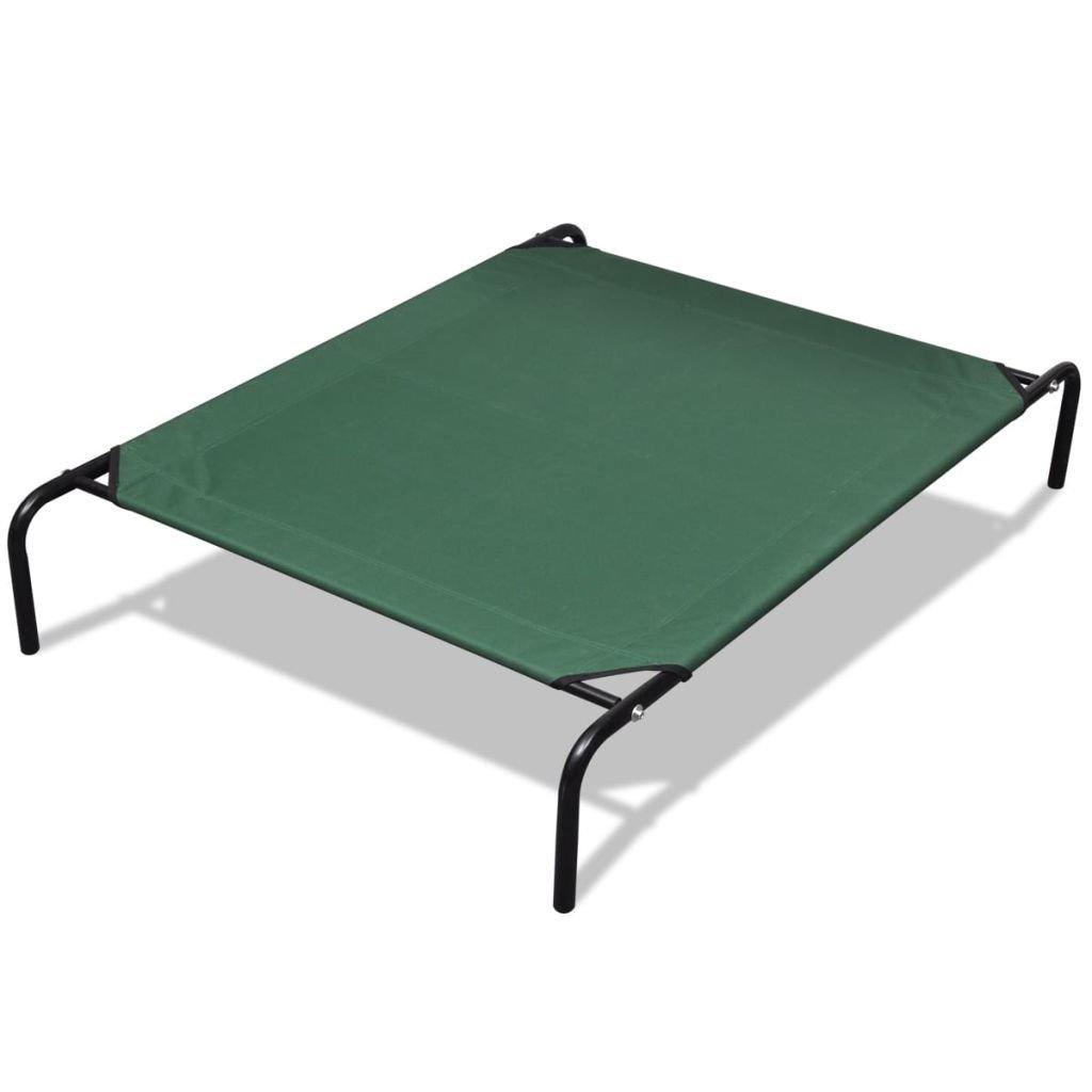 XINGLIEU Elevated Pet letto con telaio in acciaio Pet Carrier, mantiene Furry Friend scaldano il pavimento, dimensioni  110 x 80 x 20 cm (L x W x H)