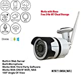 WiFi Camera Outdoor, Microseven Surveillance CCTV, 1080P HD Night Vision Bullet Camera, Waterproof Security Camera, IR Motion Detection IP Camera, ONVIF RTSP Camera,Support 128GB SD Card, Audio, Alexa