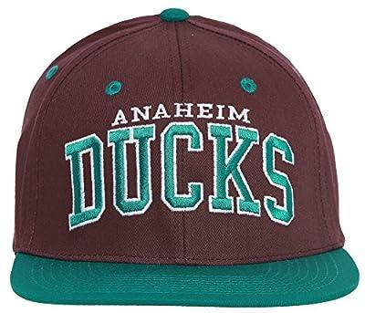 Anaheim Ducks Block Letter Logo Vintage Snapback - Purple w/ Green