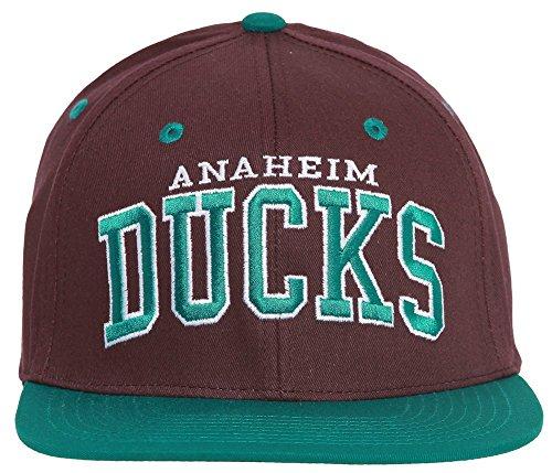 Anaheim Ducks Block Letter Logo Vintage Snapback - Purple w/ Green (Zephyr Vintage Hat)