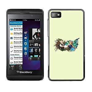 // PHONE CASE GIFT // Duro Estuche protector PC Cáscara Plástico Carcasa Funda Hard Protective Case for Blackberry Z10 / Childhood time /