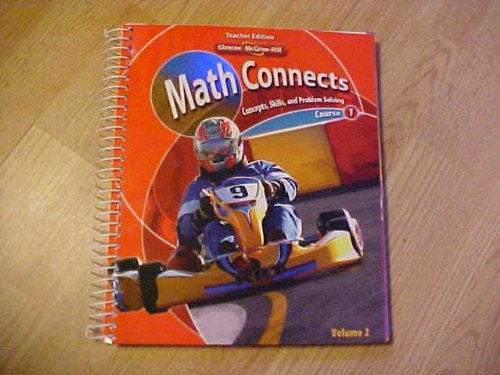 Math Connects: Concepts, Skills, and Problem Solving, Course 1, Volume 2, Teacher Edition