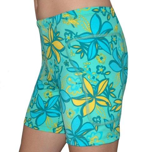 "Tuga Padded Slider Shorts, 5"" Inseam, Lemon Lime, X-Small"