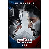 #7: Captain America Civil War Divided We Fall Poster 11 x 17 Litho