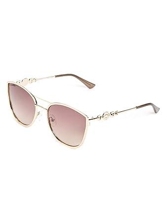 b8c547b40e2 GUESS Factory Women s Cat Eye Metal Sunglasses at Amazon Women s Clothing  store