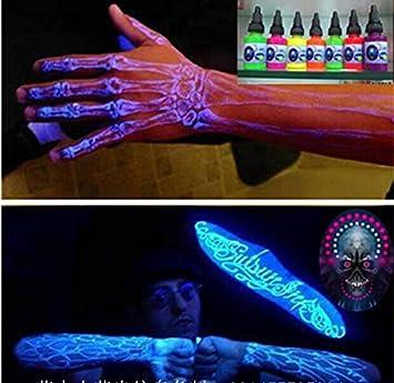 Amazoncom Blacklight Uv Tattoo Ink Glows Under Black Light