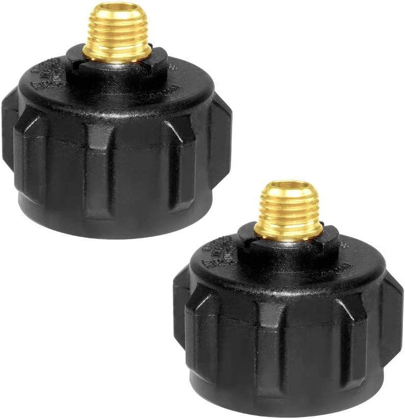 Propane Hose Adapters 1 Pack Hooshing QCC1 Acme Nut Propane Gas Fitting Adapter with 1//4 Inch Male Pipe Thread