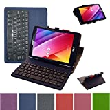"""Asus ZenPad S 8.0 Z580C Bluetooth Keyboard Case,Mama Mouth Coustom Design Slim Stand PU Leather Case Cover With Romovable Bluetooth Keyboard For 8"""" Asus ZenPad S 8.0 Z580C Z580CA Android Tablet,Blue"""
