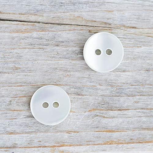 【丸型(シンプルデザイン)】グリーンシェルボタン#bt025 2穴11.5mm 10個セット