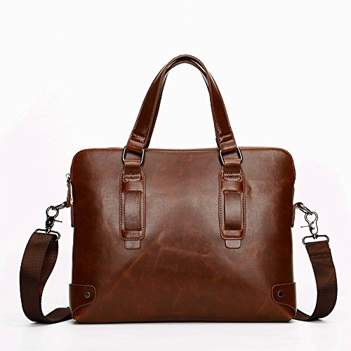 Moda Leisure Borsa Student per Messenger Briefcase Retro tracolla e Plyy uomini donne a Business Bag School qwFRpnxRXB