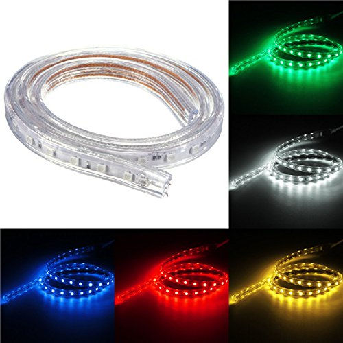 Lights & Lighting - Waterproof Ip67 1m 60smd 5050 Red/Blue/Green/Warm White/White/Rgb Led Light Strip 220v - Light Strip Waterproof Lighting Ever 5000028 B019q3u72m Lights White Strips - 1PCs