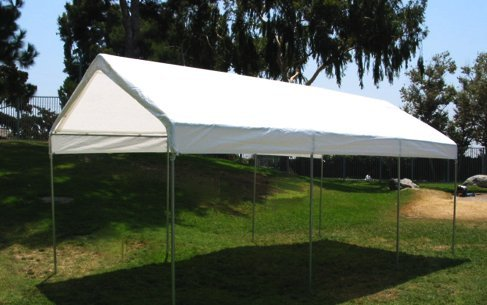 22'X30' EXTRA Heavy Duty 12 mil (White) Tarp 3 Ply Coated Reinforced Canopy 6 oz 3 Layer (Includes Tarps Tools and Toys Maintenance Manual)