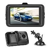 NEXGADGET Dash Cam 3.0' Screen FHD 1080P Car dashboard Camera Vehicle On-dash Video Recorder Camcorder Support 24/7 Surveillance G-Sensor Loop Recording Extra USB Port on Car Charger