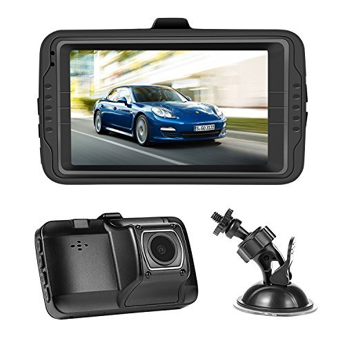 NEXGADGET Dash Cam 3.0' Screen FHD 1080P Car dashboard Camera Vehicle On-dash Video Recorder Camcorder Support 24/7 Surveillance G-Sensor Loop Recording Extra USB Port on Car Charger