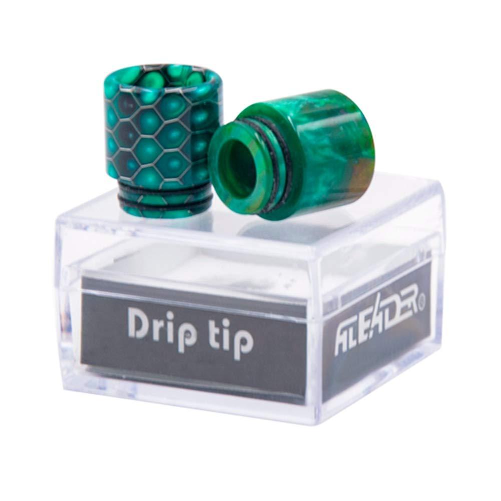 DrafTor Drip Tip Kit resina epoxi Wire Bore RDA RBA Tank Drip Tips Vape Boquilla para atomizador de cigarrillos electr/ónicos 510 Drip Tip 810 Drip Tip
