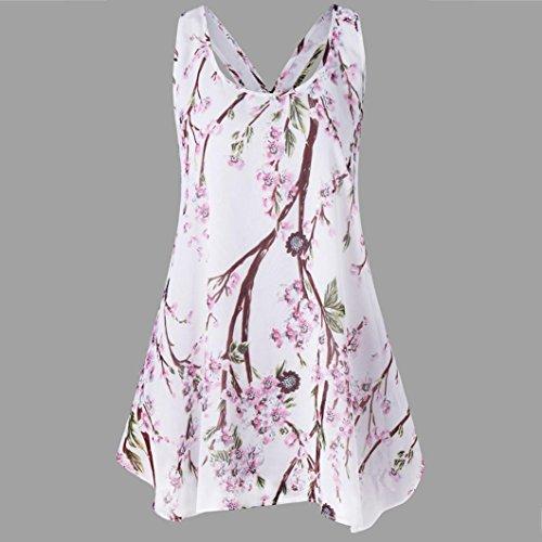 Veste T Impression Blouse sans Shirt Tops Camisole Chemisier Tops Debardeur Sexyville Manches Femme Rose Tank Chemise EHzw5t