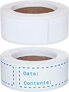 150pcs Food Date Labels and 150pcs Blank Freezer Labels, Removable Refrigerator Sticker Tape for Meal Prep Container Pantry Kitchen