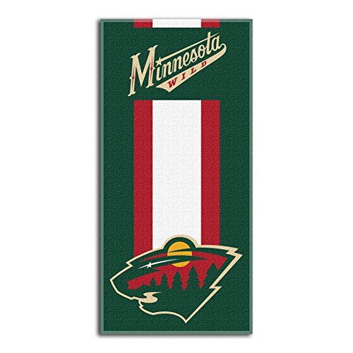 "The Northwest Company Officially Licensed NHL Minnesota Wild Zone Read Beach Towel, 30"" x 60"""