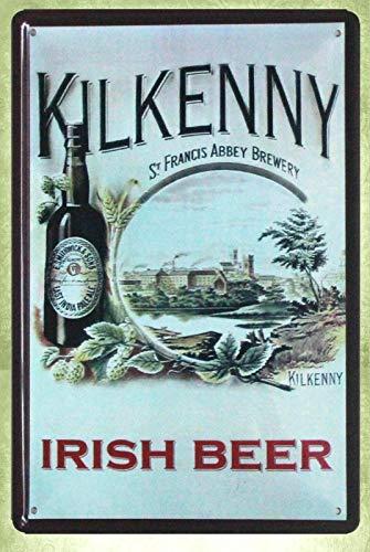 QDTrade Metal Sign 8 x 12inch - Kilkenny Irish Beer ad Collectible bar Vintage Look tin Sign Wall Decoration Bar Cafe Home Decor Decor Outdoor