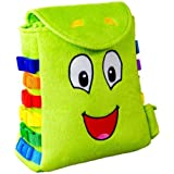 """BUCKLE TOY """"Buddy"""" Backpack - Toddler Early Learning Basic Life Skills Children's Plush Travel Activity"""