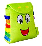 "BUCKLE TOY ""Buddy"" Backpack - Toddler Early Learning Basic Life Skills Children's Plush Travel Activity"