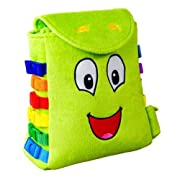 BUCKLE TOY  Buddy  Backpack – Toddler Early Learning Basic Life Skills Children's Plush Travel Activity