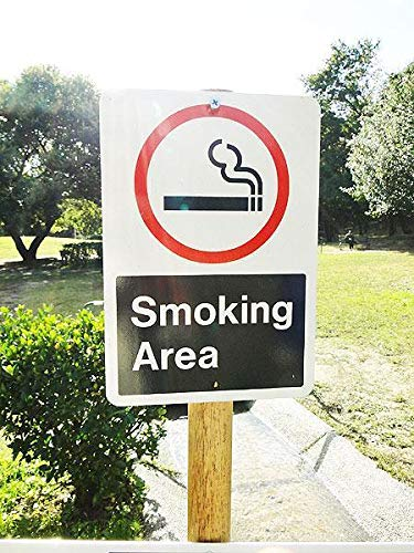 80587アメリカで実際に使われているの道路標識のトラフィックサイン(喫煙エリア)/ガレージ雑貨/看板/ビンテージ/店舗   B07RXPPDV4