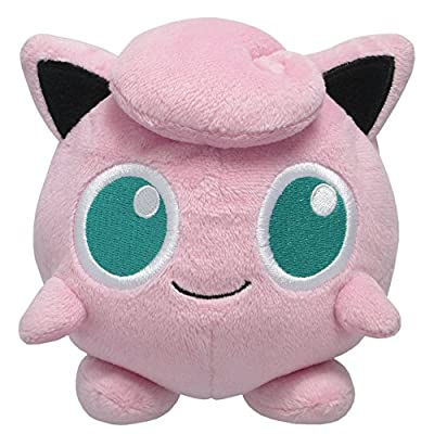 "Sanei Pokemon All Star Series Jigglypuff Stuffed Plush, 5"""