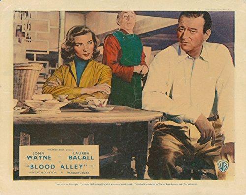 Blood Alley Original British Lobby Card John Wayne Lauren Bacall 1955 Silverscreen