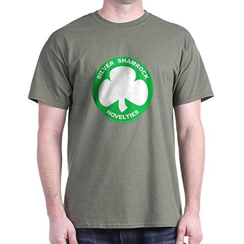CafePress Silver Shamrock Novelties - 100% Cotton T-Shirt -