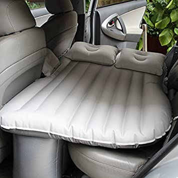 FreeTec Car Travel Inflatable Mattress Air Bed Universal SUV Extended Air Couch with Two Pillows Black