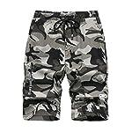 LAUSONS Short Garcon Camouflage - Bermuda Enfant Garçon été - Pantalon Court Militaire Slim Chino Shorts 8