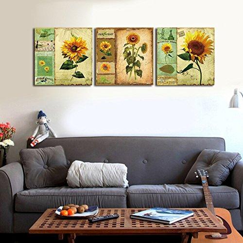 Shuaxin Modern Cartoon Sunflower Print on Canvas