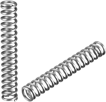 sourcing map Resorte comprimido de bobina de acero inoxidable extendida de 1.2X20x50mm 10 pzas