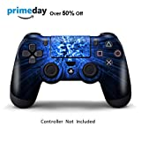Skins for PS4 Controller - Decals for Playstation 4 Games - Stickers Cover for PS4 Slim Sony Play Station Four Controllers PS4 Pro Accessories PS4 Remote Wireless Dualshock 4 Skin - Blue Explosion