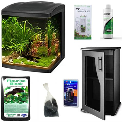 Coralife Size 16 BioCube LED Aquarium BASIC FRESHWATER PLANTED TANK Bundle by BioCube