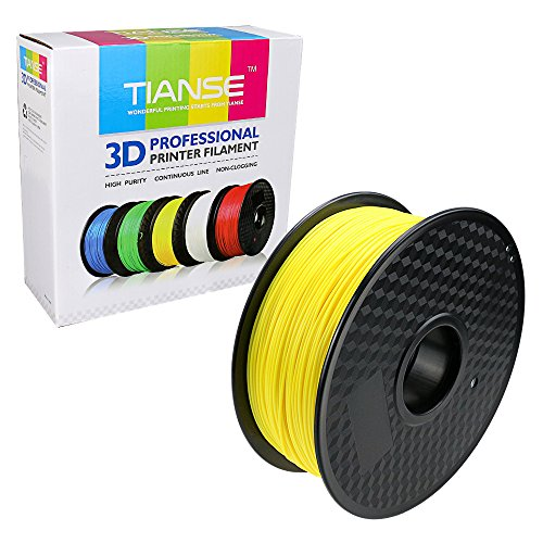 TIANSE Fluorescent Yellow PLA 3D Printer Filament 1.75mm 1KG Spool Filament for 3D Printing, Dimensional Accuracy +/- 0.03 mm