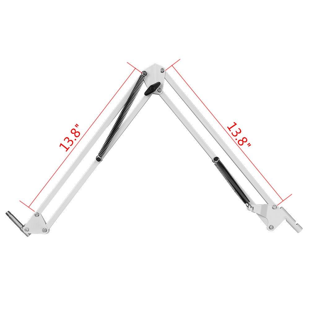Desk Clamp Mount Suspension Boom Scissor Arm Tripod Stand Holder for Logitech Webcam C922 C930e C930 C920 C615-white by AceTaken